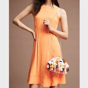 Anthropologie HD in Paris Orange Etna Dress US 16